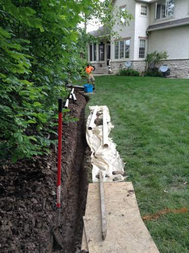 New 4 inch lines are used to maximize water flow