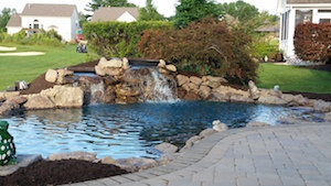 water garden koi pond patio landscape